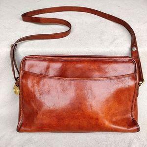 Brahmin Vintage Leather Mohogany Bag Purse